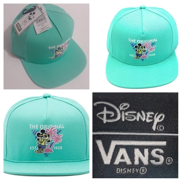 3af7f27e5fc49 Vans x Disney Mickey's Miami Vice Snapback Hat NWT